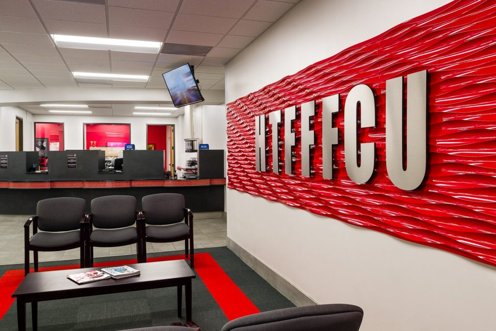 Haltner Projects: Houston Texas Fire Fighters Federal Credit Union Seating