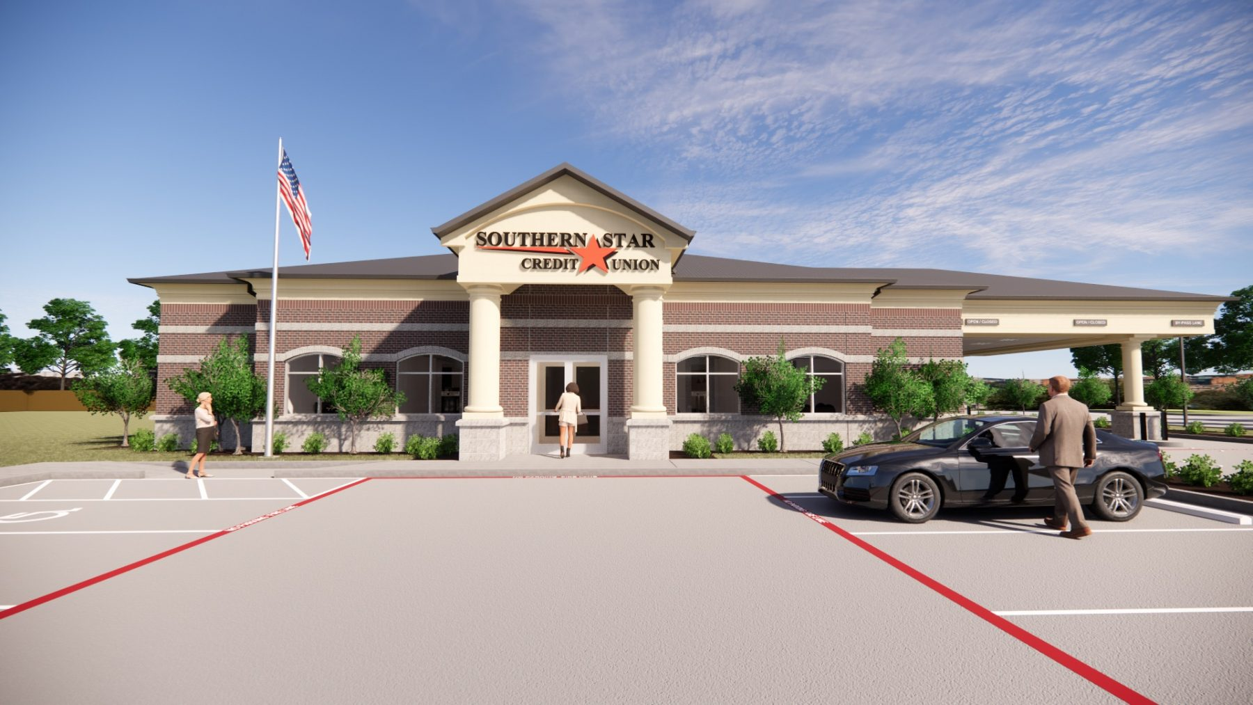 Southern Star Credit Union - Exterior Rendering